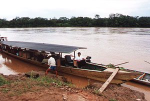 Boat on the Madre de Dios River